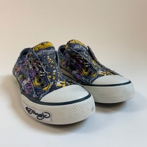 Ed Hardy Slip-on Sneakers - Size 5/6